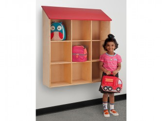 Whitney Brothers Red Roof Wall Storage Cabinet
