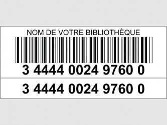 Codes à barres laser avec étiquette de numéro supplémentaire