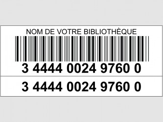 Laminated Laser Barcodes with Supplementary Digit Label