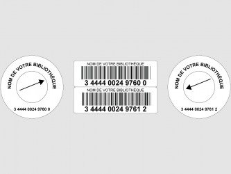 Laminated Laser Barcodes with Disc Hub Label