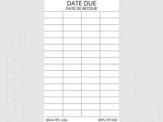 Bilingual Date Due Slips