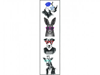 """Animals with glasses"" Biblio RPL Bookmarks"