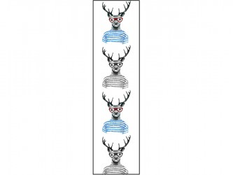"""Deer with glasses"" Biblio RPL Bookmarks"