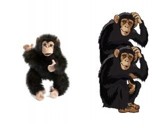 Mini Mascot Pack - Chimpanzees