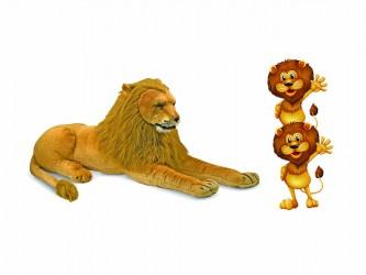 Ensemble géant de mascotte - Les lions