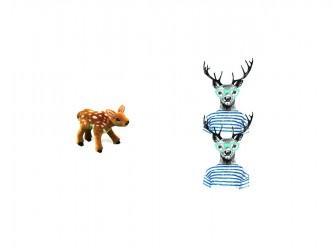Ensemble mini de mascotte - Les chevreuils