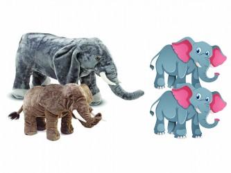 Ensemble complet de mascotte - Les éléphants