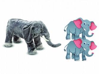 Ensemble géant de mascotte - Les éléphants