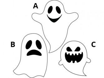 Halloween Vinyl Wall Decals - Ghost