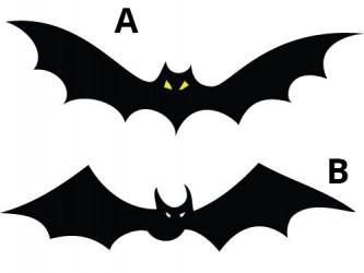 Halloween Vinyl Wall Decals - Bat