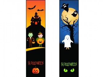 """Halloween"" Biblio RPL Bookmarks"