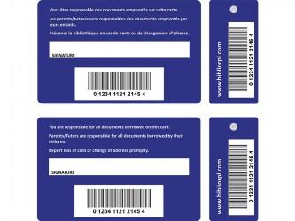 Cartes de membre personnalisées avec porte-clés