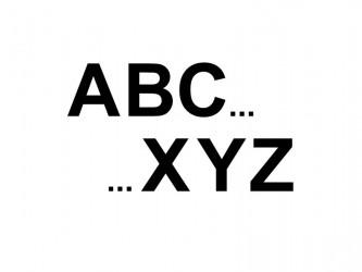 Lettres en vinyle adhésif - Alphabet