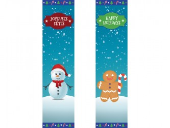 """Christmas"" Biblio RPL Bookmarks"
