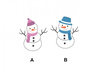 Christmas Vinyl Wall Decals - Snowman - Snowwoman