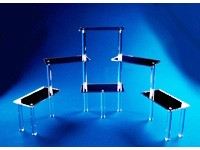 Acrylic Mirrored Rectangle Platform Riser