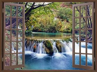 Affiche en vinyle autocollant - La fenêtre vers la nature