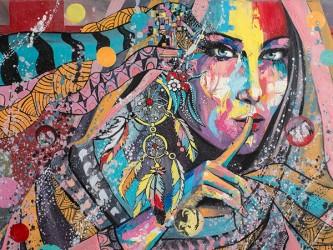 Affiche en vinyle autocollant - Silence artistique