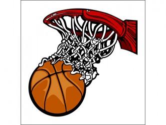 Affiche en vinyle autocollant - Filet de basketball