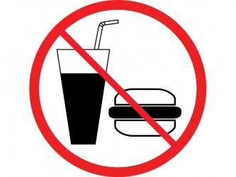 Self-Adhesive Vinyl Sign - No Food or Drinks
