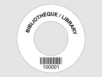 Customized Disc Hub Labels