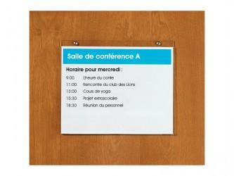 Support mural horizontal en acrylique pour affiches - Autocollant