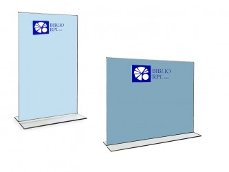 Bottom Loading Premium Acrylic Sign Holder - Ledger Size