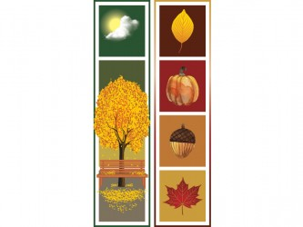 """Autumn"" Biblio RPL Bookmarks"