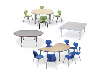 Smith System Husky Adjustable Activity Tables