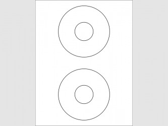 """Laser Disc Labels - 4 1/2"""""""