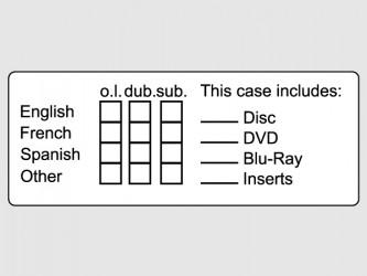 Étiquettes d'identification pour documents audiovisuels - Anglais