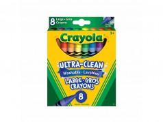 Crayons de cire de Crayola - Gros crayons - Boîte de 8