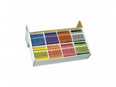 Crayola Crayons - Large Size - Box of 400 (8 col.)