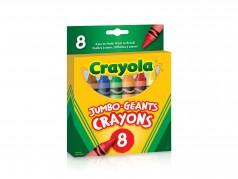 Crayons de cire de Crayola - Taille jumbo - Boîte de 8