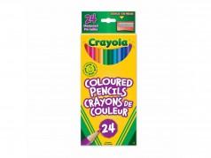 Crayons de couleur en bois de Crayola - Boîte de 24
