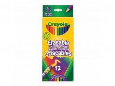 Crayons de couleur effaçables en bois de Crayola - Boîte de 12