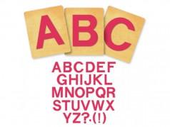 Ensemble de gabarits SureCut de Ellison - Block Alphabet