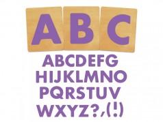 Ensemble de gabarits SureCut de Ellison - Fruit Smoothie Alphabet