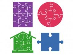 Ensemble de gabarits SureCut de Ellison - Puzzles