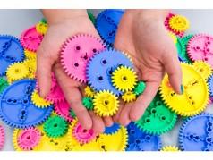 Pièces en vrac de TeacherGeek: Engrenages de tailles variées