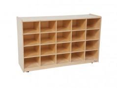Wood Designs Mobile Storage Cubbies