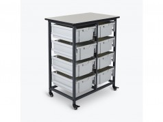 Luxor Double Columns Mobile Storage Cart