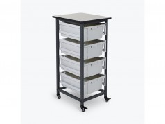Luxor Single Column Mobile Storage Cart
