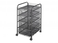 Safco Onyx Mesh File Cart with 4 Drawers