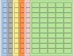 """Étiquettes laser de couleur - 1 1/2""""L x 1""""H"""