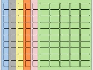 "Coloured Laser Labels - 1 1/2""W x 1""H"