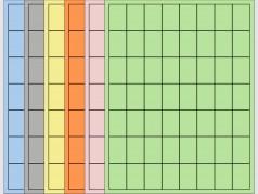 "Coloured Laser Labels - 1""W x 1 1/2""H"