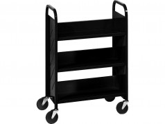 Demco Library Quiet Booktruck with 3 sloped shelves