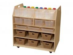Chariot de rangement pour arts de Wood Designs