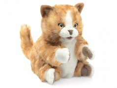 Folkmanis Orange Tabby Cat Hand Puppet